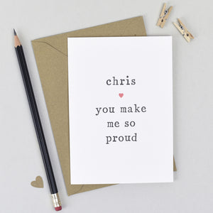 'So Proud' Congratulations Card Card - The Two Wagtails