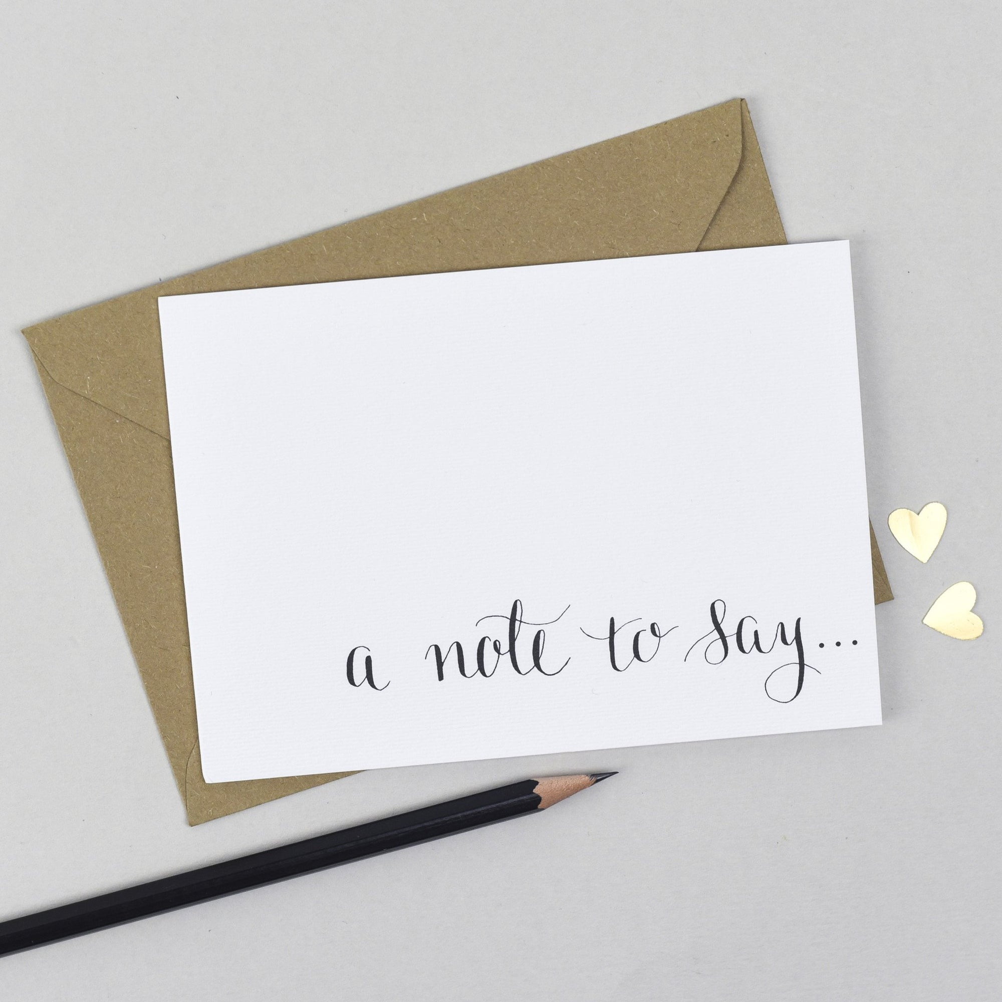 'A Note To Say' Notecard Card - The Two Wagtails