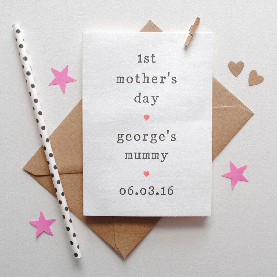 Personalised '1st Mother's Day' Card Card - The Two Wagtails