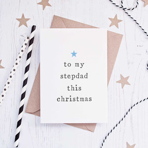 'To My' Stepparents Christmas Card Card - The Two Wagtails