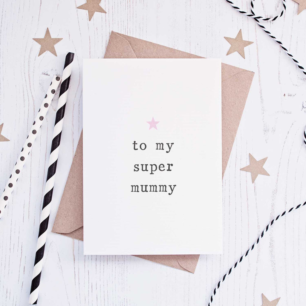 'Super Mummy' Mother's Day Card