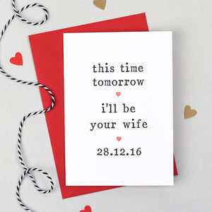 tomorrow wedding day card