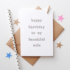 Husband or Wife Birthday Card Card - The Two Wagtails
