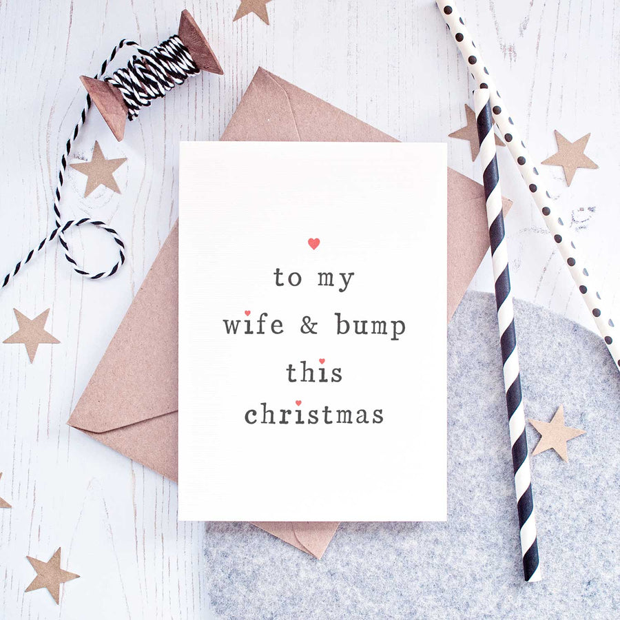 Wife or Husband Christmas Card Card - The Two Wagtails