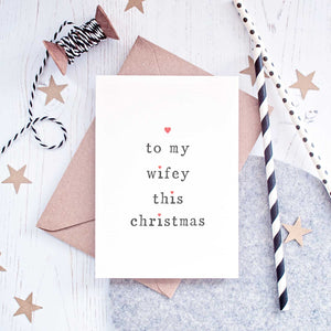 'To My' Hubby Or Wifey Christmas Card Card - The Two Wagtails