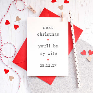 Personalised 'Next Christmas' Fiance or Fiancee Card Card - The Two Wagtails