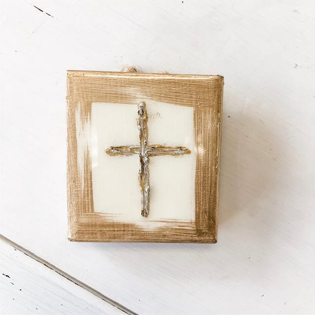 Wood Cross {painted, mini}