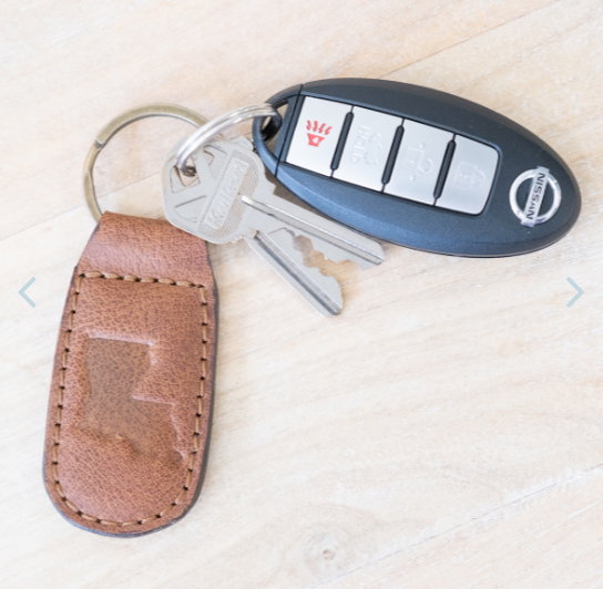 Leather Embossed Keychain
