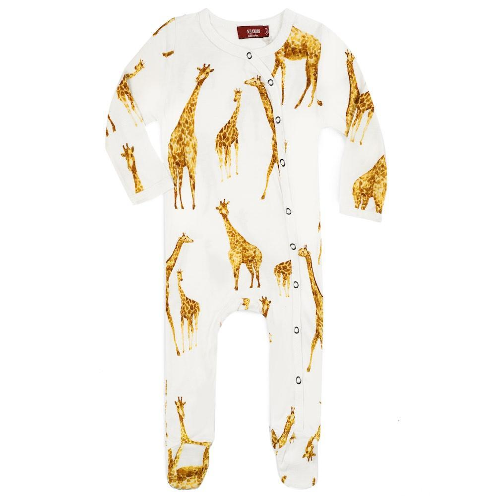 Footed Romper, Giraffe