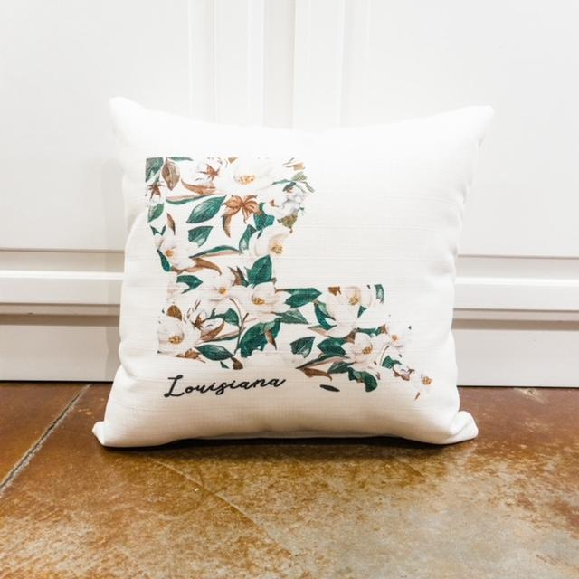 Louisiana Magnolia Pillow