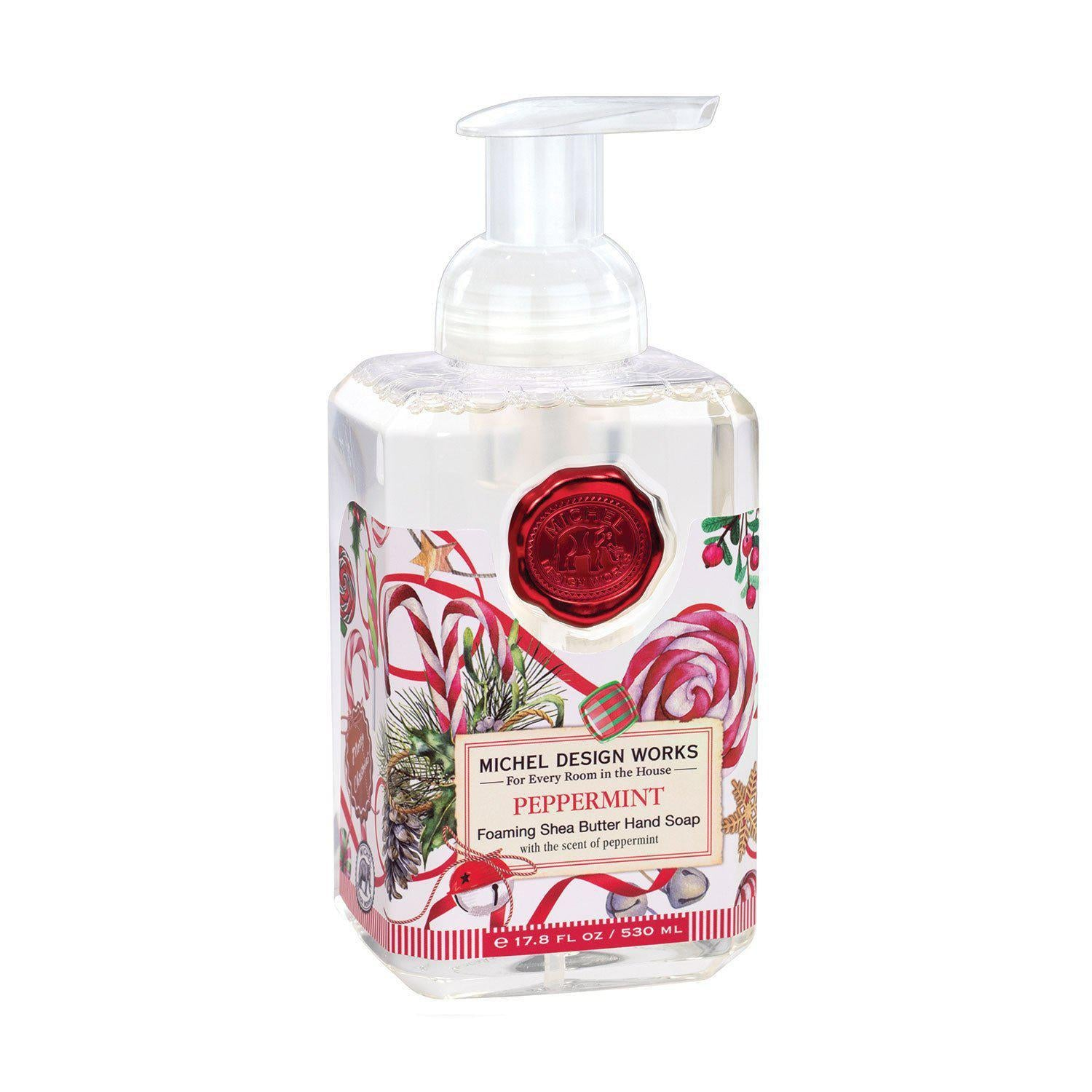 Michel Design Christmas Foaming Hand Soap, Peppermint