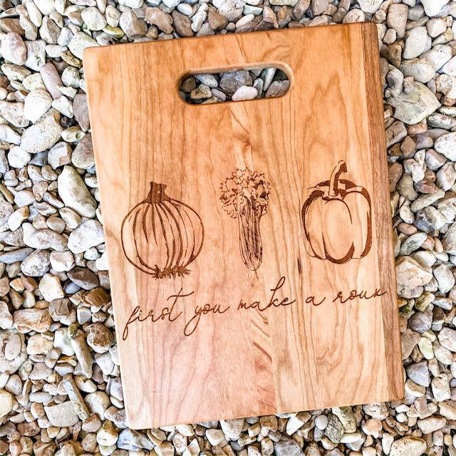 Trinity {roux} Cutting Board