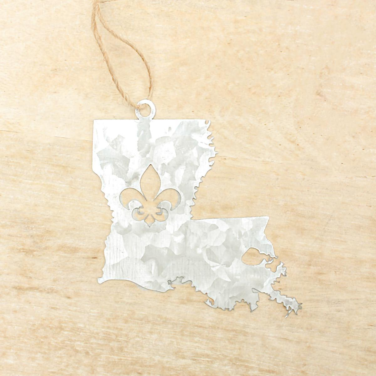 Galvanized Louisiana Ornament