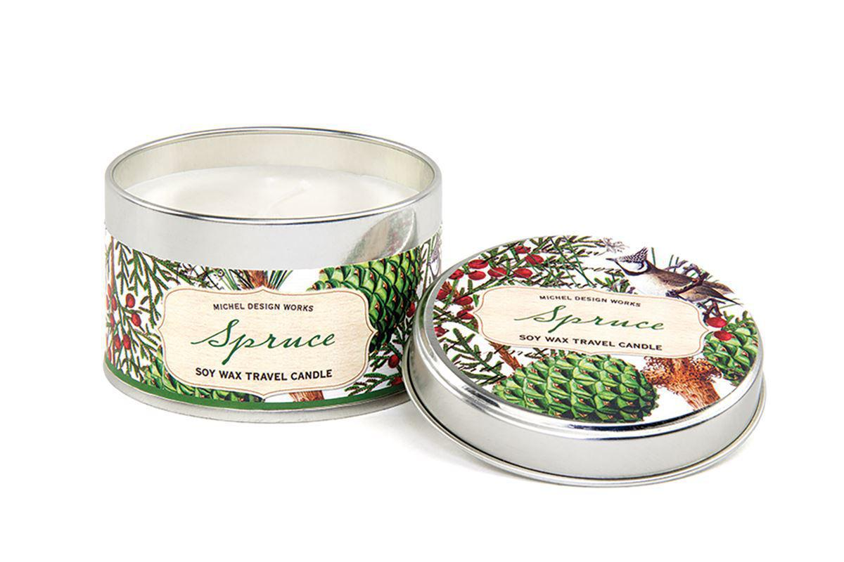 Michel Design Christmas Tin Candle