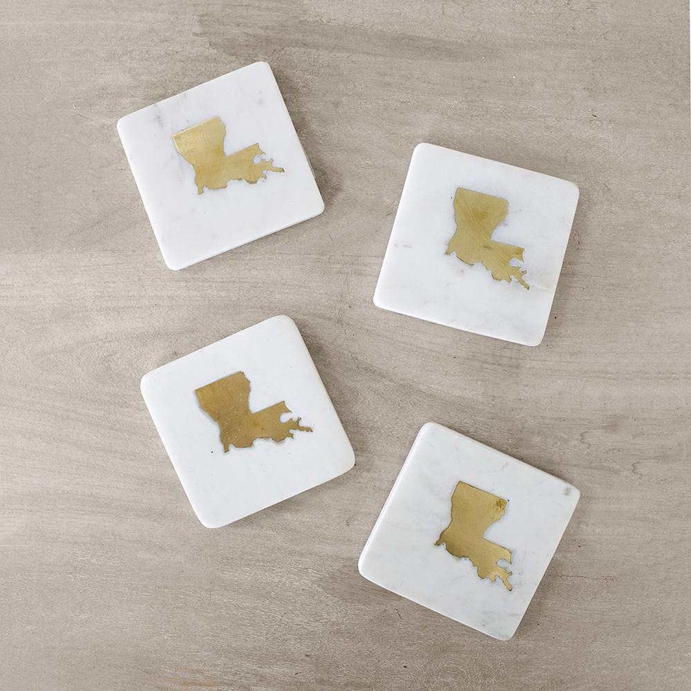 Louisiana Marble Coasters