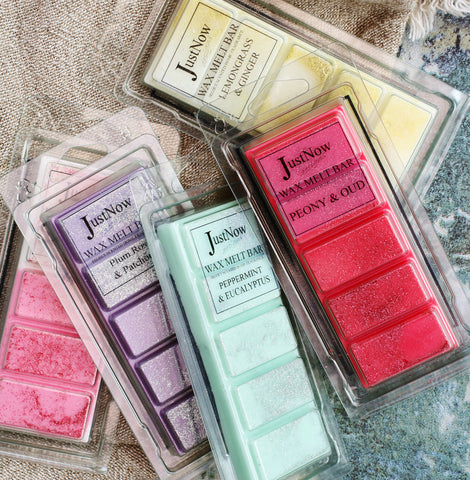 Mixed wax melt highly scented snap bars from JustNow designs