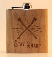 """Stay Sharp"" Flask"