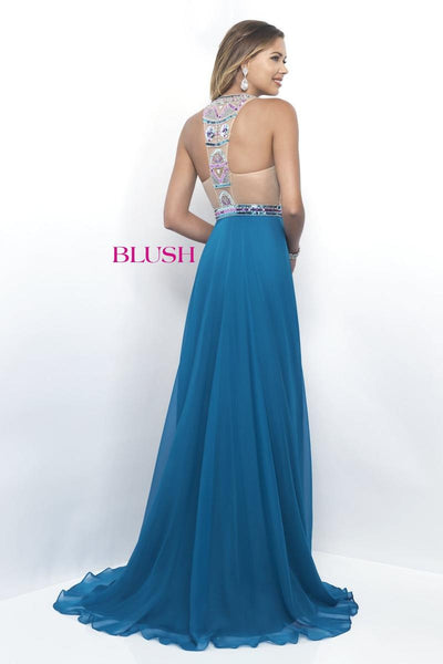Blush 11349 Party Pink/Multi prom dress, size 4