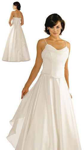 Alexia 1258 Ivory bridesmaid dress, destination wedding dress, size 12