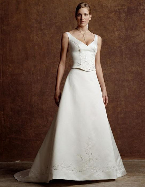 Casablanca 1659 wedding gown, 2 piece Ivory Size 14