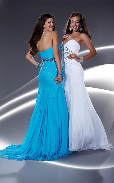 Tiffany 16604 White Size 14 prom dress, destination wedding, cocktail dress