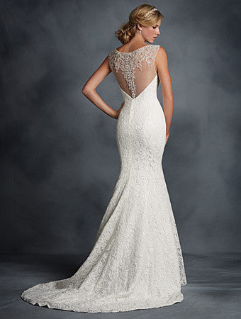 Alfred Angelo 2524 Lace with straps, sweetheart neckline Ivory Size 10