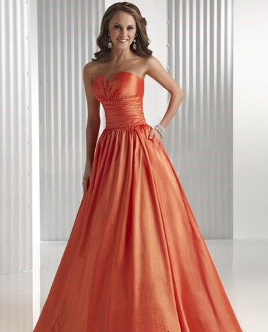 Flirt by Maggie Sottero P4423 Orange Size 24 strapless prom dress, evening dress, Sale $126