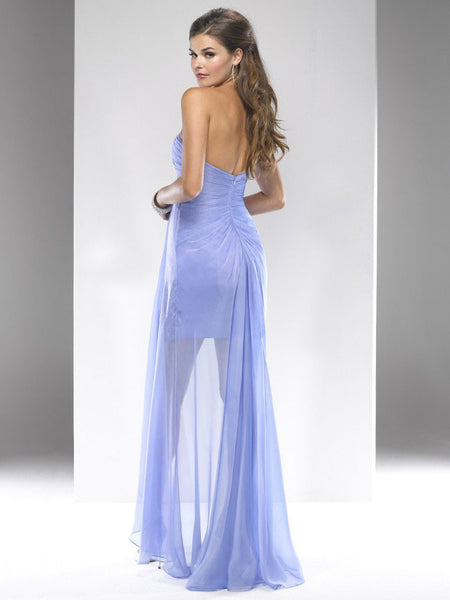 Flirt by Maggie Sottero P4727 French Blue Size 14 short prom dress with long overlay