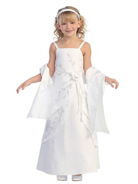 Tip Top Kids 5324 White Size 12 Flower Girl dress