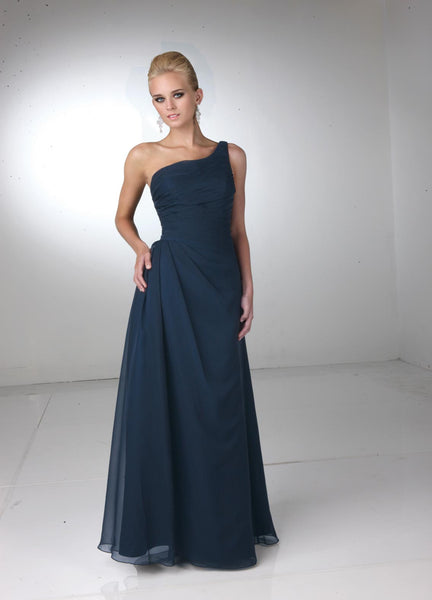 Davinci 60068 long chiffon bridesmaid dress, 53 color options