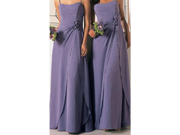 Alfred Angelo 6130 Long chiffon bridesmaid dress, Size 10 Victorian Lilac