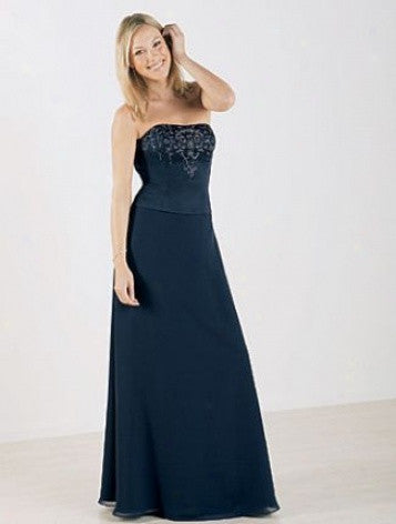 Alfred Angelo 6305 Navy Size 10 or 12 bridesmaid dress, evening gown