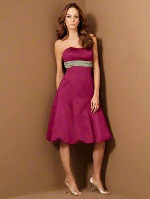 Alfred Angelo 6453 Claret/Celadon Size 14 short bridesmaid dress