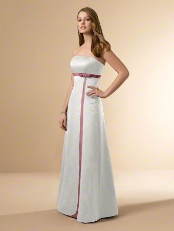 Alfred Angelo 6553 Moonlight Waltz/Tea Rose Long Bridesmaid Dress, Size 2