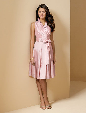 Alfred Angelo 6568 Petal Pink Size 10 short bridesmaid dress, cocktail dress