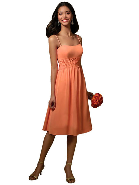 Alfred Angelo 7018 Tangelo size 16 short chiffon bridesmaid dress