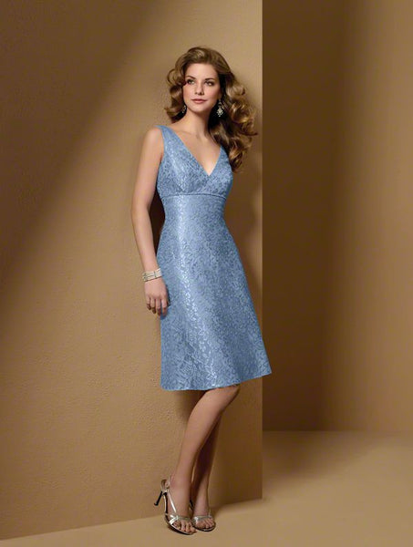 Alfred Angelo 7025 Blue Size 10 Short lace bridesmaid dress, cocktail dress
