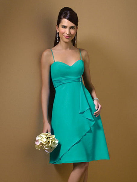 Alfred Angelo 7045 Jade Size 14 short chiffon bridesmaid dress
