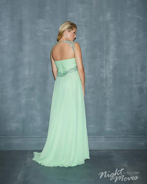 Night Moves by Allure 7138W Lime Size 24W chiffon prom dress, evening dress