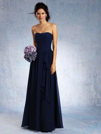 Alfred Angelo 7324L Navy chiffon size 16 bridesmaid dress, evening dress