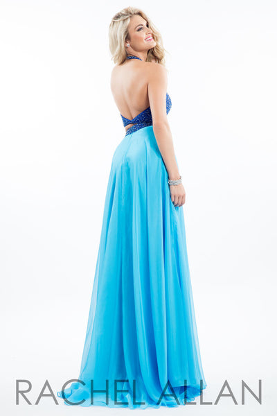 Rachel Allen 7566 Royal/Aqua 2 piece prom dress Size 8