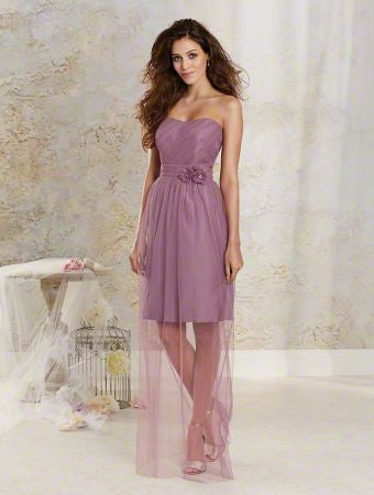 Alfred Angelo 8619S Wisteria Size 6 Short with illusion overlay bridesmaid dress