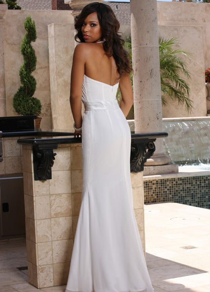 Davinci Informal Bridal Gown F7006, White Size 12 destination dress, $320