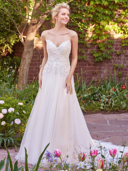 Rebecca Ingram by Maggie Sottero Marjorie 7RS327 Ivory/Light Gold  Size 10 wedding gown
