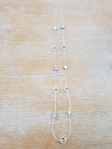 Long sparkly and bead necklace