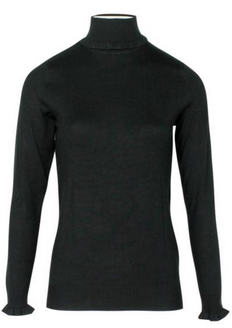 ICHI Mafa roll-neck in scarab green