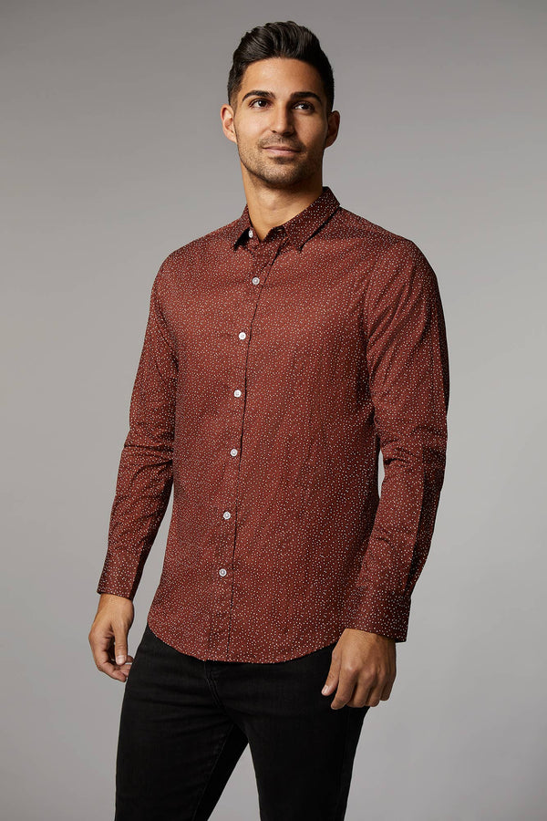 Ryan Speckled Rust Shirt