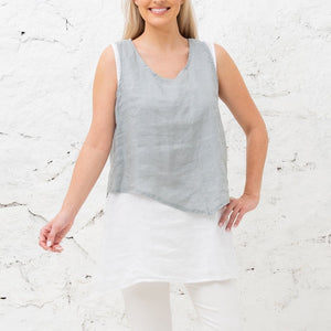 Cobblestone 2 Layer Linen Top