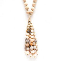 Meghan Browne Long Necklace With Beaded Tassel