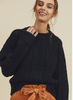 In Loom Black Knitted Sweater